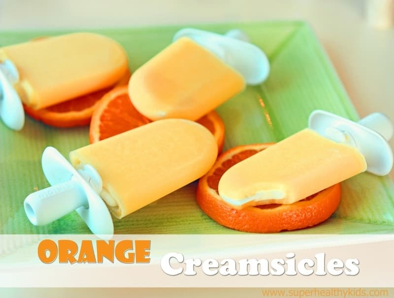 Orange Creamsicle Recipe. Orange coating with a creamy center! This popsicle is easier than it looks!