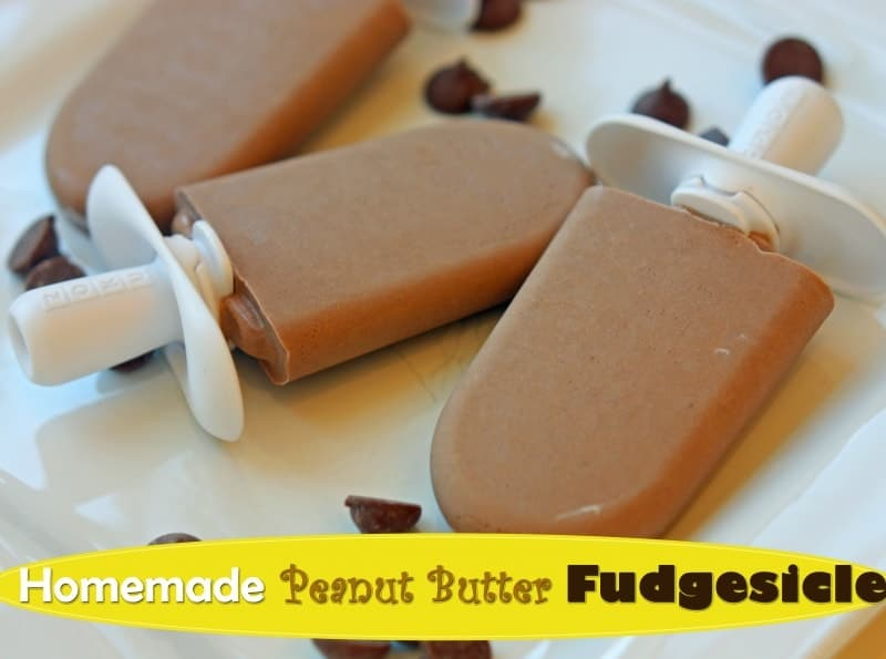 Homemade Peanut Butter Fudgesicle Recipe. Sometimes the kids need a treat.