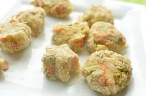 Veggie Nuggets Recipe. With five vegetables packed into this nugget, your kids will get all their servings they need in one sitting!