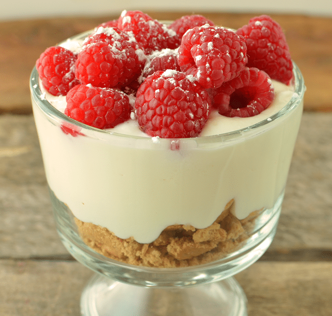 Kids can now make their own raspberry cheesecake in 3 simple steps!