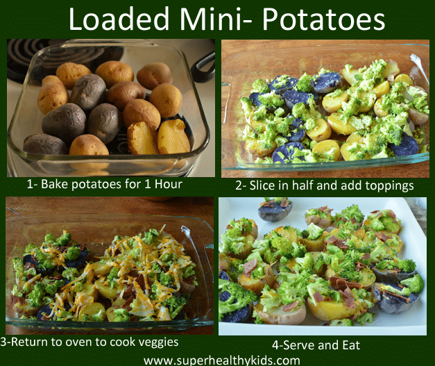 Kids Mini Loaded Baked Potatoes. These make a great side or a main dish!
