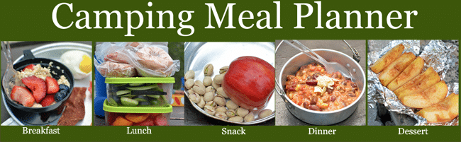 Healthy Camping Meal Plan, Recipes, and Shopping List! The food for your next camp out- planned for you!