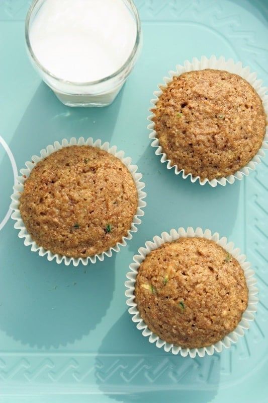 Zucchini Bran Muffins. Here it is! The biggest lie about muffins.