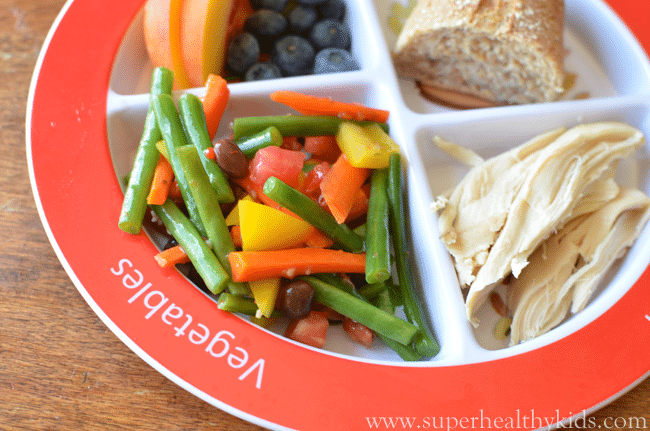 Rainbow Green Bean Salad Recipe. Break away from the norm with this salad your kids will love!