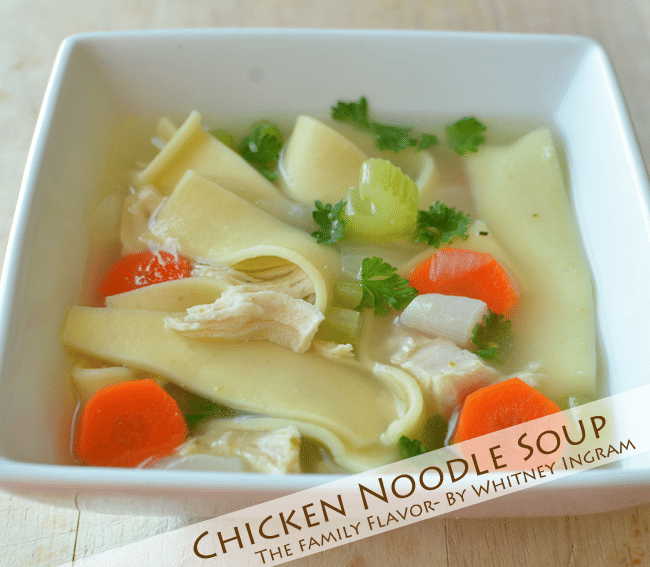 Our Family's Favorite Chicken Noodle Soup Recipe {The Family Flavor}. Hands down, our #1 favorite recipe for Chicken Noodle Soup!