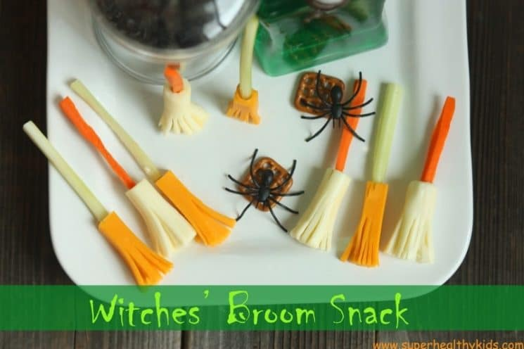 Witches' Broom Snack. Combat increased sugar intake with this super fun snack recipe!