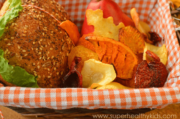 Root Veggie Chips - Healthy Lunch Idea for Kids. Any-root chip! Try these varieties.