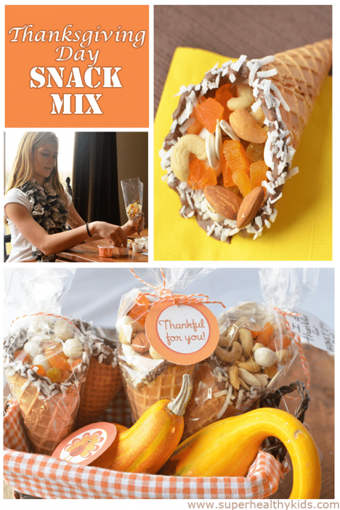 Thanksgiving Day Cornucopia Snack Mix. We're welcoming November with these Thanksgiving Snack Ideas!