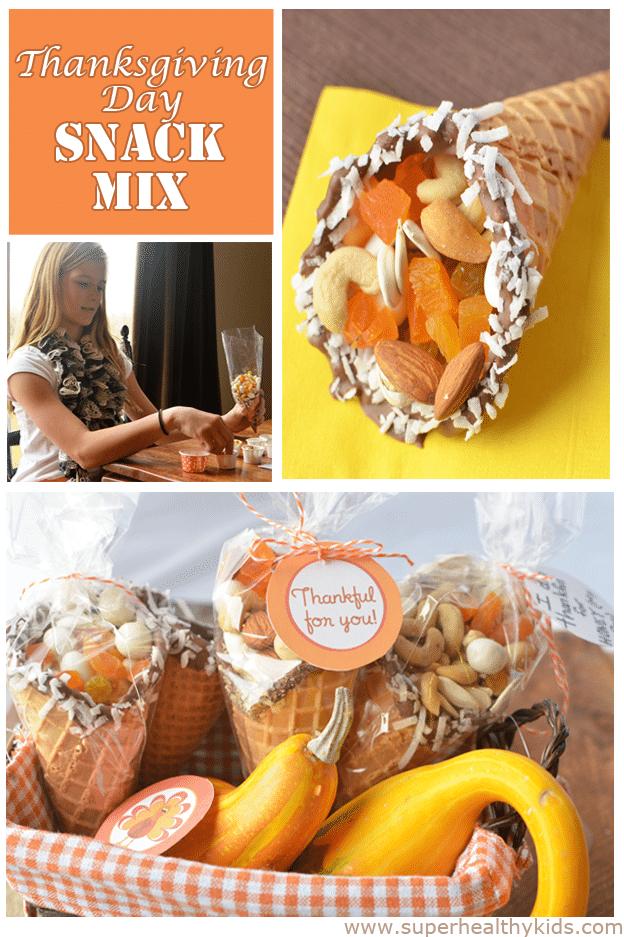 Thanksgiving Day Cornucopia Snack Mix Healthy Ideas For Kids