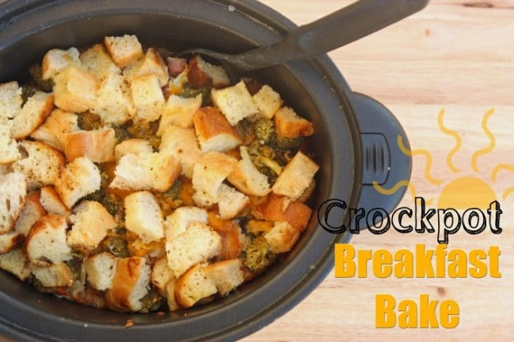 Crockpot Breakfast Bake Recipe. This crockpot idea hits the spot on a cold morning!