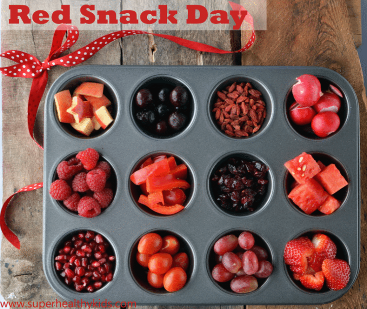 Healthy Red Snack Day - Kids Buffet. Happy Valentine's Day! Have a red snack day next week!
