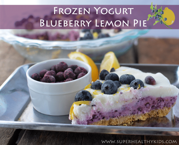 Layered Frozen Yogurt Blueberry Lemon Pie. Healthy and Pie can be in the same sentence!!