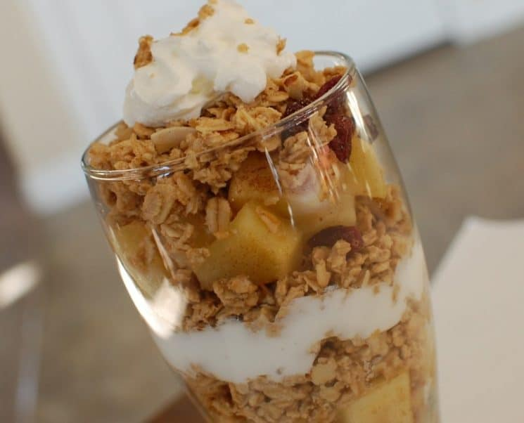 Apple Pie Parfait. Is this a healthy breakfast or a delicious dessert?