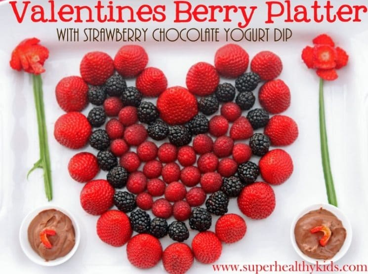 Valentine's Berry Platter. Here's a fun platter for your Valentine's Day party!