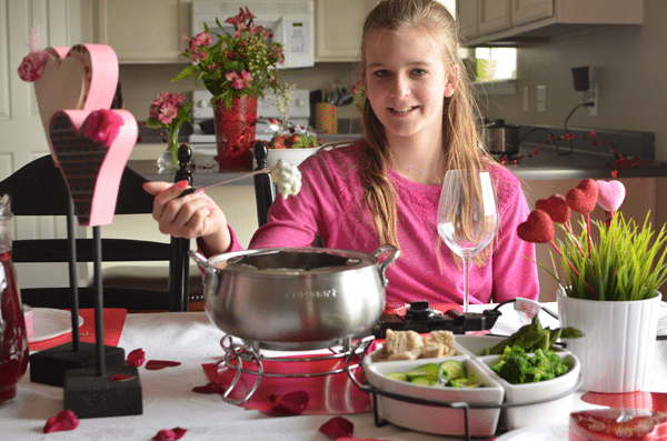 Valentine's Veggies- Special Dinner for Awesome Kids. A fun dinner to celebrate Valentine's day with the family!