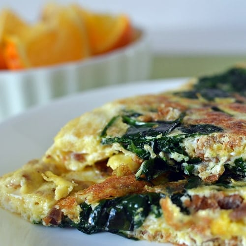 spinach and bacon omelet super healthy kids