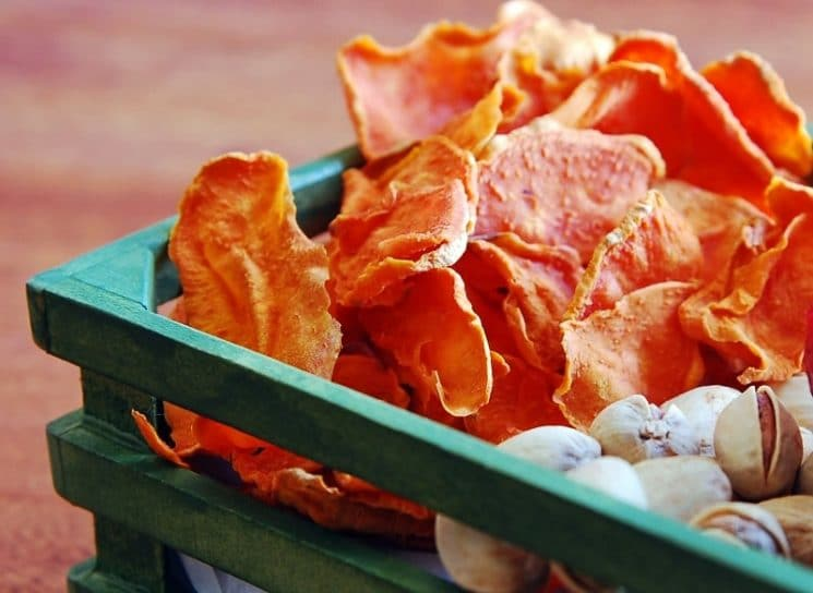 Oven Baked Sweet Potato Chips -- quick, easy and SOOO tasty!