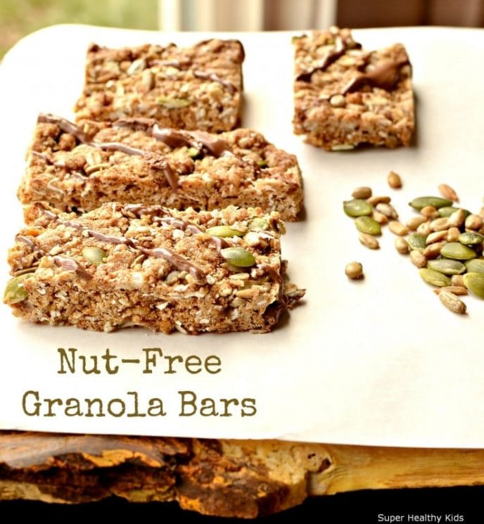 Delicious and Chewy Homemade Granola Bars for Nut-Free Kids. Chewy granola bars, full of nutrition and nut-free!