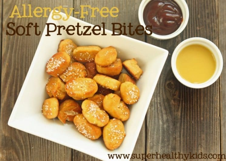 Soft Pretzel Bites Recipe {Allergy Free}. A pretzel recipe for almost any one!