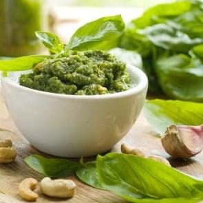 Pesto Pockets- 20 Minute Dinner Idea. I love any reason to eat pesto!