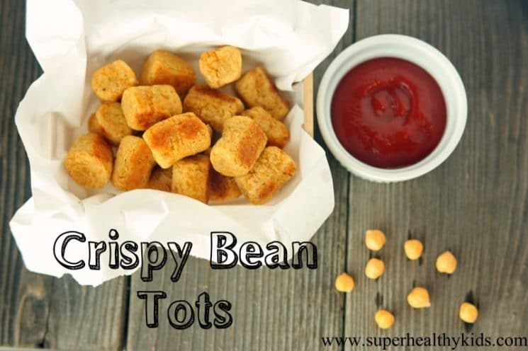 Crispy Bean Tots Recipe. Perfect for toddlers and packed with protein and fiber!