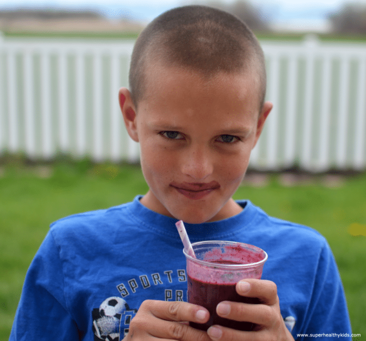 Berry Brainy Blizzard Recipe - A Smoothie For Kids. Drink your way to smarter kids!