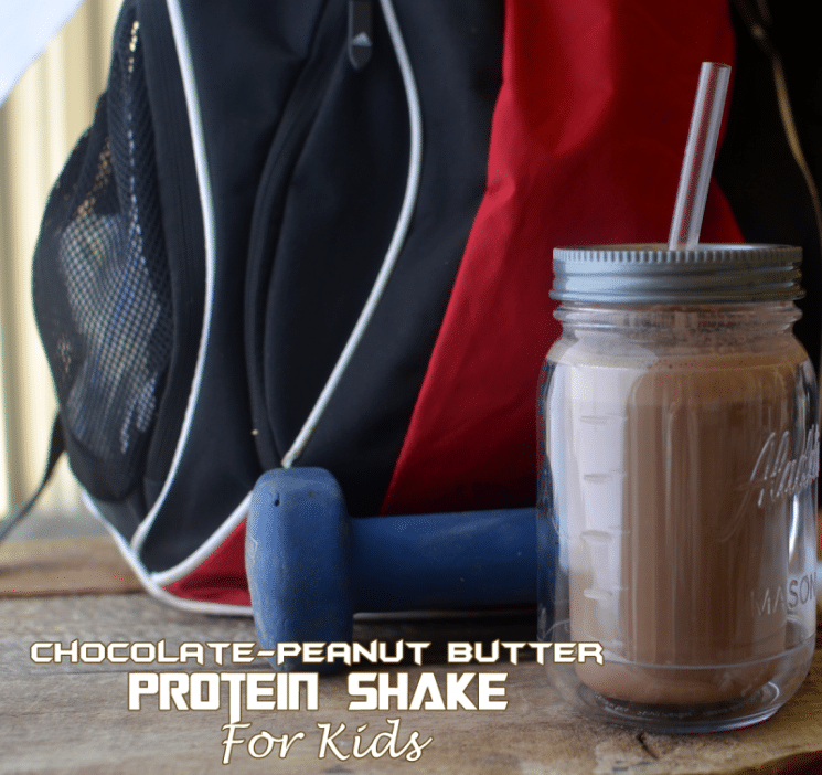 Chocolate Peanut Butter Protein Shake for Kids