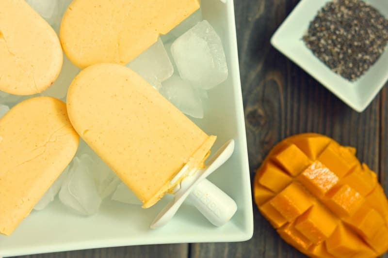 Coconut Mango Chia Pop Recipe. Once you read what chia seeds can do for you, you'll want to add them to everything! Like these mango coconut pops.