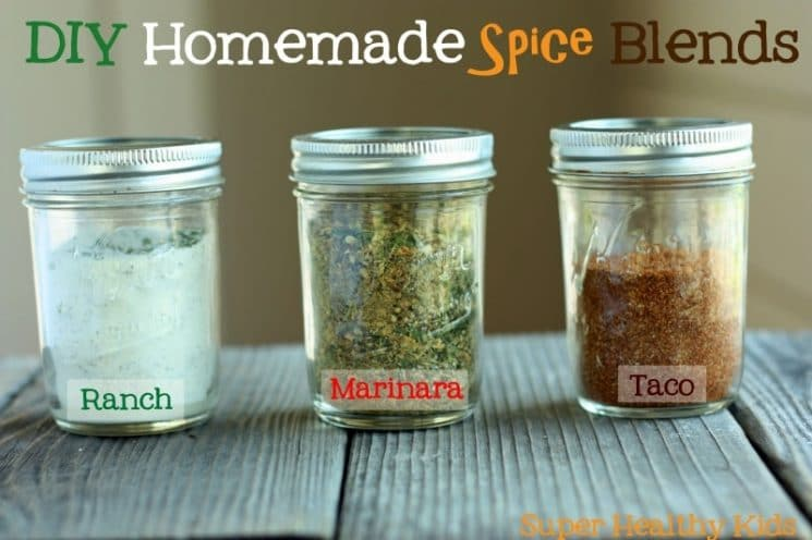 DIY Homemade Spice Blends. Ranch, taco seasoning, and spaghetti sauce! Those little envelop packets are often more than a dollar these days. Making your own is much less expensive!