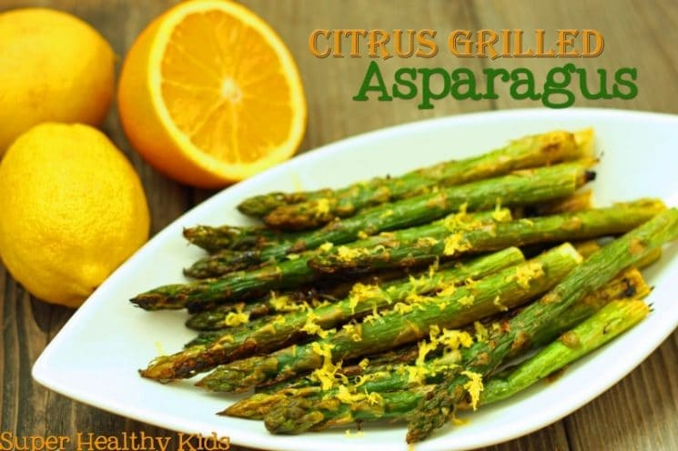 Citrus Grilled Asparagus. Mmmm.. Try adding this the next time you cook asparagus! You might get some new veggie fans!
