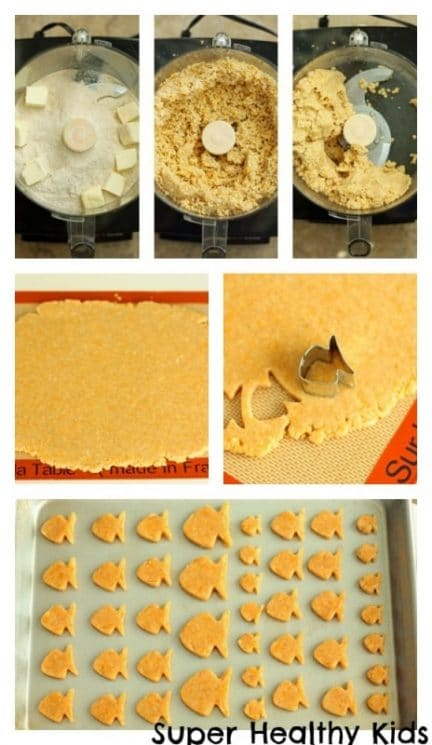 Homemade Whole Wheat Goldfish Crackers. Homemade goldfish! Don't you just love these