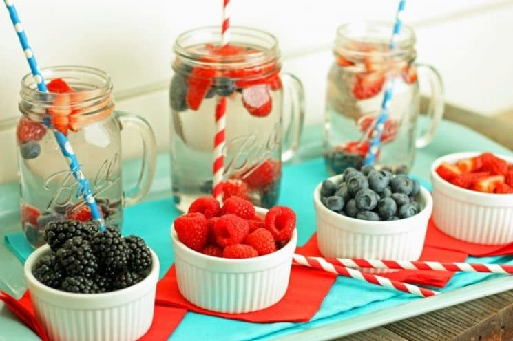 4th of July Berry Blast. This festive water is a great way to keep kids hydrated!