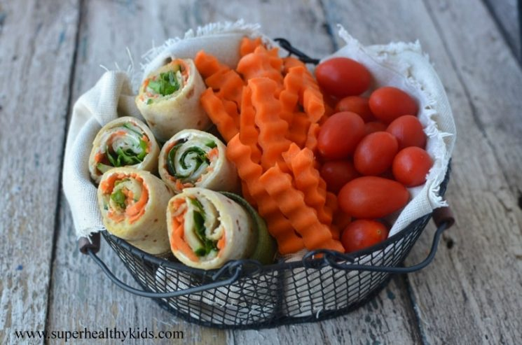 veggie wrap in a basket