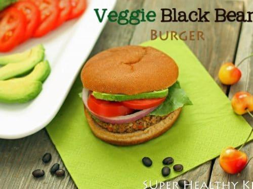 Veggie Black Bean Burger Super Healthy Kids