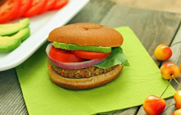 Veggie Black Bean Burger. These black bean burgers make you look like a super chef! Your kids will thank you!