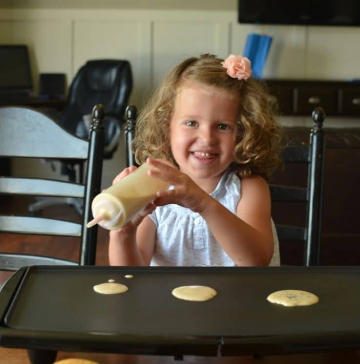 Basic Pancakes- 6 Ways. Kids making breakfast on their own! That's the goal, and here's the method!