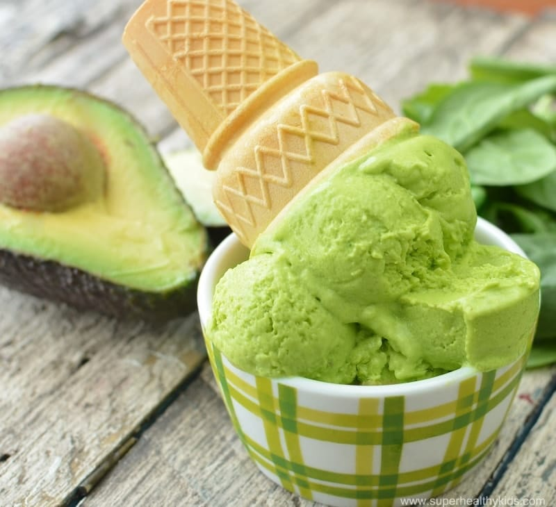 6 Super Healthy Green Ice Cream Recipes for Kids. You wouldn't know there is kale in them all!