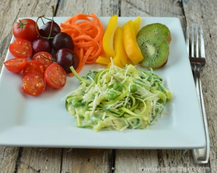 Zucchini Veggiefredo Recipe. Healthy pasta, that isn't pasta! We love doing this with our zucchini!