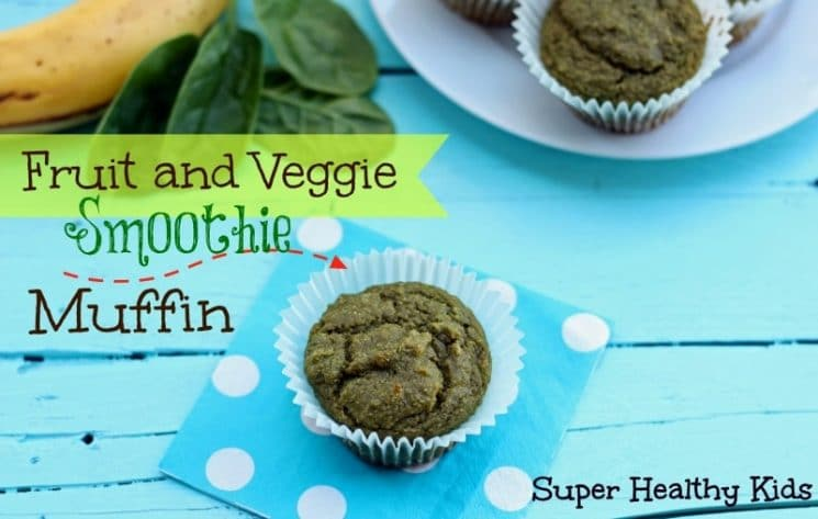 Fruit and Veggie Smoothie Muffin Recipe. All the goodness you normally pack into a smoothie, made into muffins!