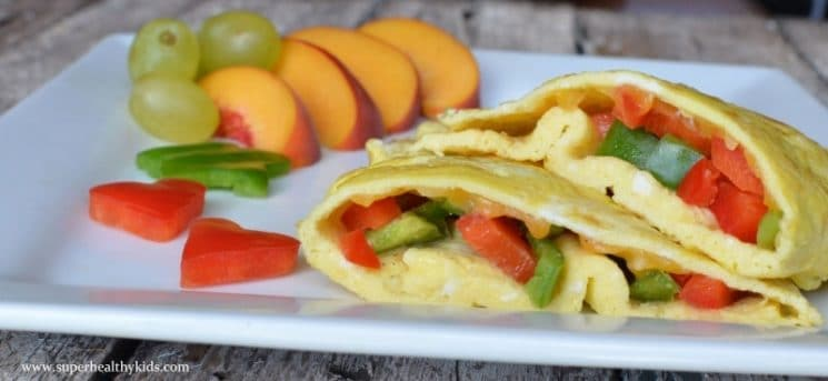 Perfect Veggie Omelette Recipe. This is seriously a no-fail way to make perfect omelettes!