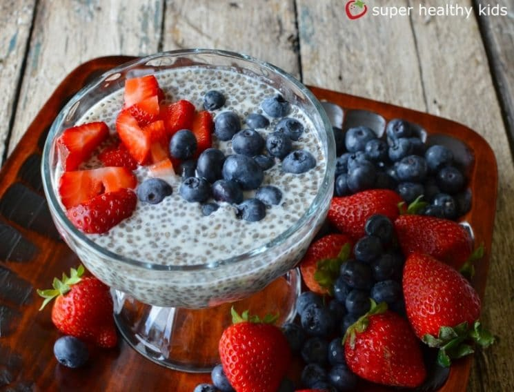Chia Seed Champion Pudding Recipe {Healthy Dessert for Kids}. Have your kids tried it yet? What do they think?