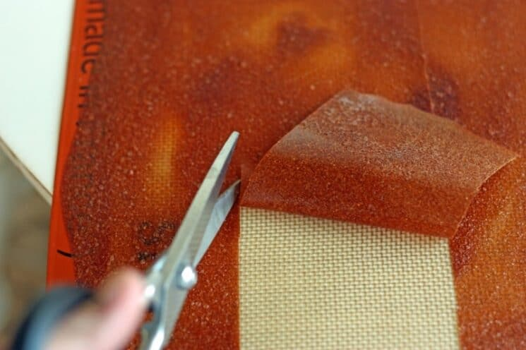 Cutting fruit leather.jpg