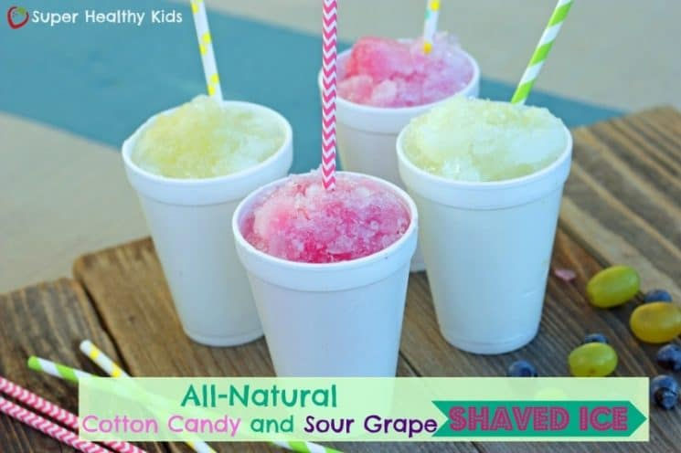 All Natural Cotton Candy Flavored Shaved Ice. So good you won't believe there is no added sugar!|www.superhealthykids.com.jpg