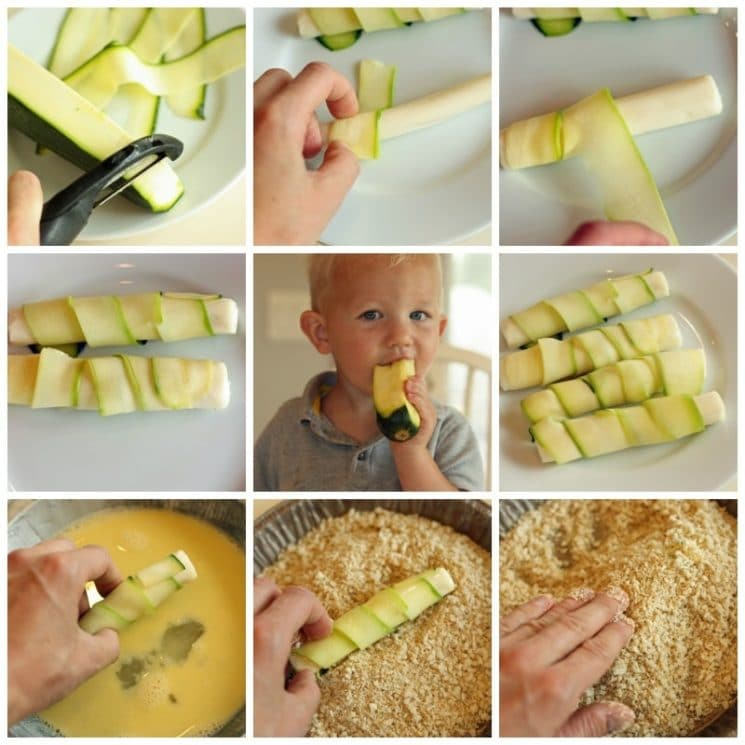 Cheesy Zucchini Sticks Recipe. Even if you don't grow zucchini, it's such a great price right now!! Buy a bunch and try these cheesy sticks.