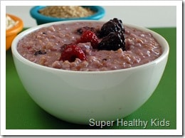 coconut berry steel cut oats