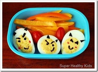 Kids deviled eggs