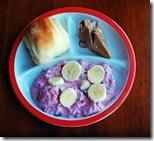 kids plate pink salad