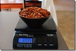 A pound of almond is needed to make this delicious chocolate covered almonds!