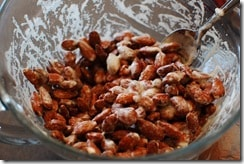 We just love almonds that are covered with chocolate!
