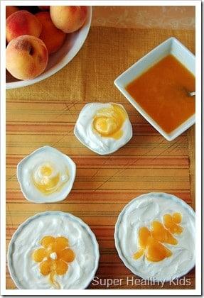 Homemade Perfect Peach Yogurt for Kids! Flavored yogurt- Homemade style!